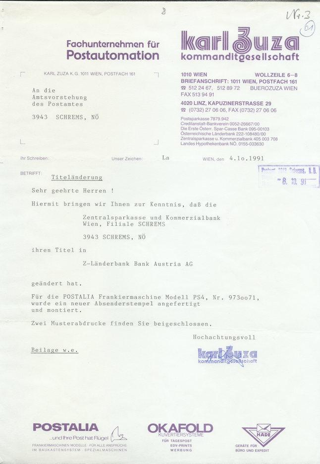 Österreichische Absenderfreistempel  Frs_ba10