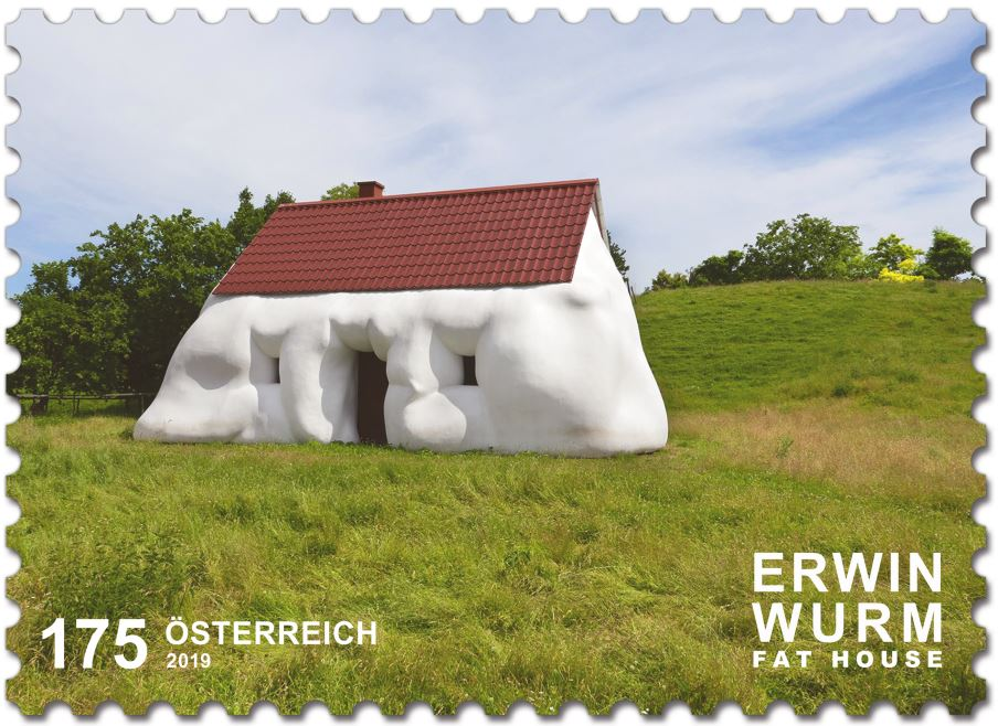 Sondermarke Erwin Wurm – Fat House House10