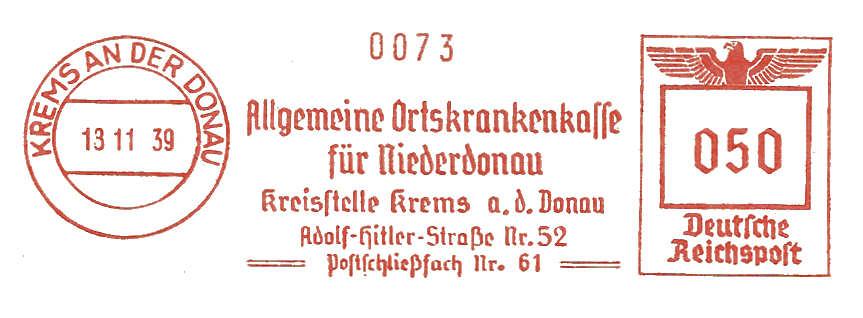 Österreichische Absenderfreistempel  Kranke10