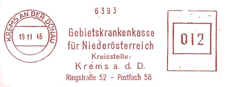 Österreichische Absenderfreistempel  Kranke11
