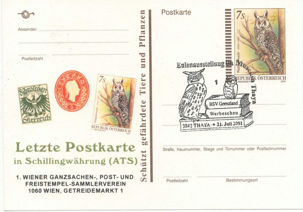 Letzte Postkarte in Schillingwährung Letzte10