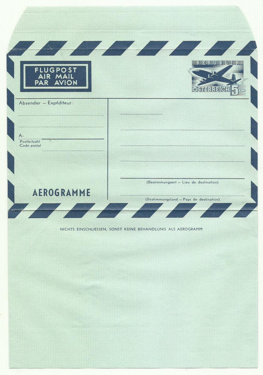 Flugpostfaltbriefe (Aerogramme) Lf10
