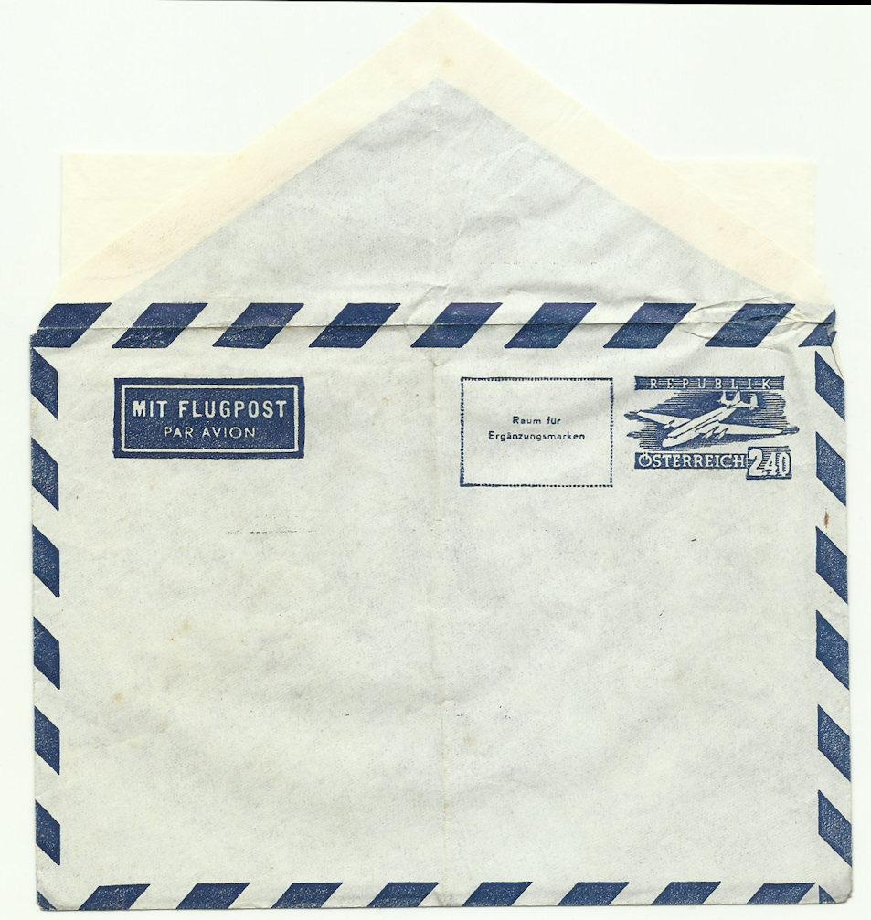 Flugpostfaltbriefe (Aerogramme) Lu10