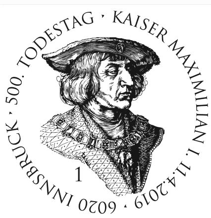 Österreich NEU: Sondermarkenausgabe 500. Todestag Kaiser Maximilian I. Max_st10