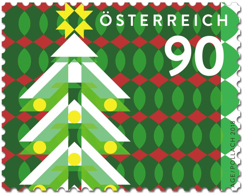 Weihnachten - Sondermarke Weihnachten 2018 – Modern – Weihnachtsbaum Modern10