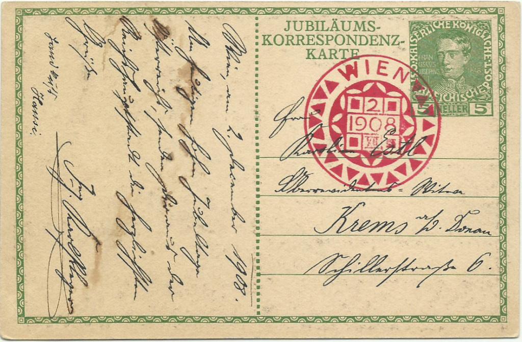 Jubiläumskarte Franz Joseph 1908 P_207_10