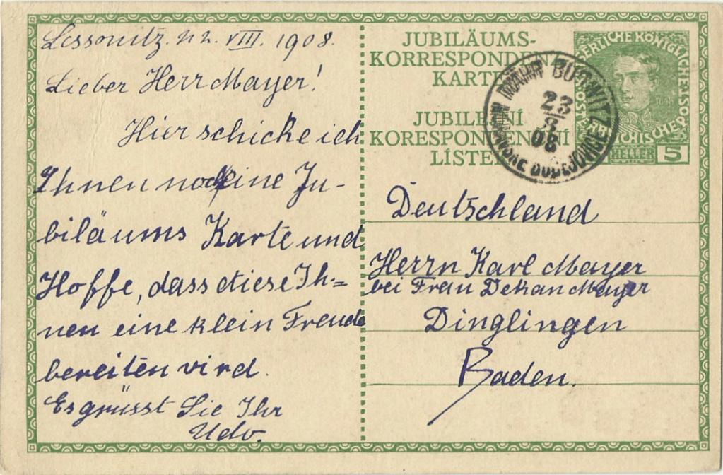 Jubiläumskarte Franz Joseph 1908 P_208_10