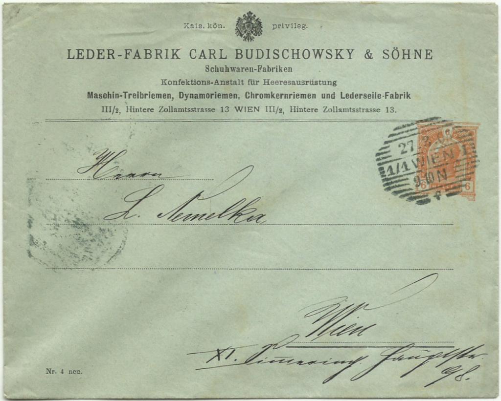 Private Briefumschläge Monarchie Privat10