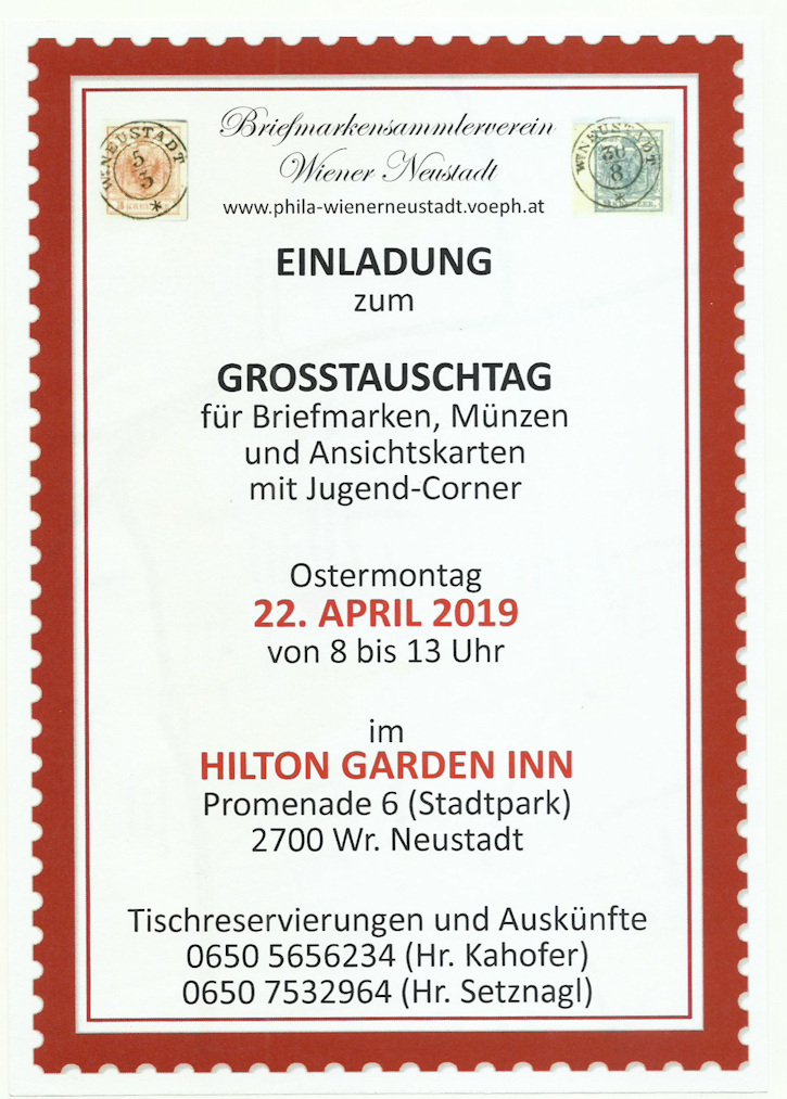 Großtauschtag Wr.Neustadt 22. April 2019 Tausch11