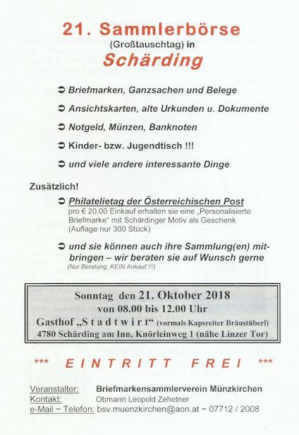 21. Oktober 2018 Sammlerbörse Schärding Treffe10