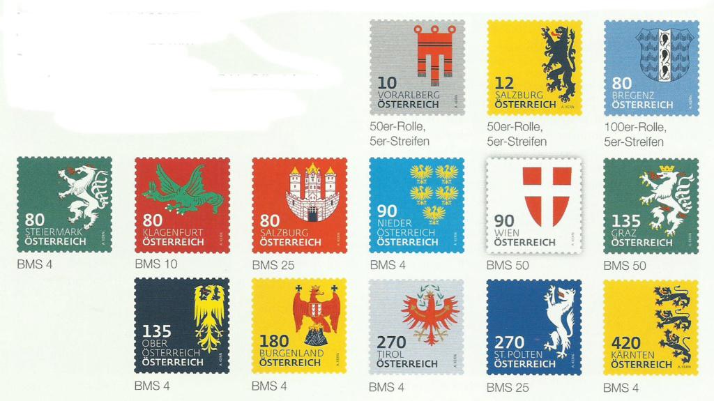 "Freimarkenserie ""Heraldik"" ab 1. Jänner 2017 Wappen11"