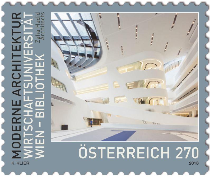 Sondermarke Wirtschaftsuniversität Wien – Bibliothek Wu_mar10