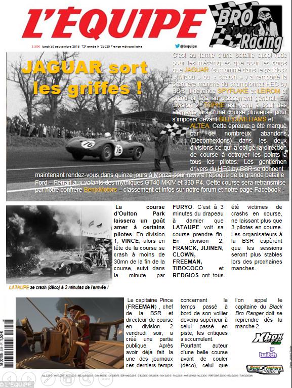gazette du 30/09/18 Equipe12