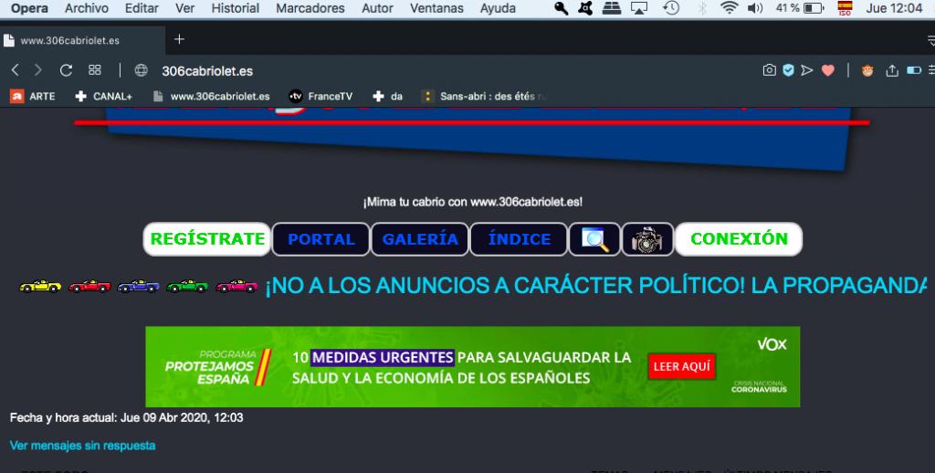 Publicidad a carácter político en los foros Captur42