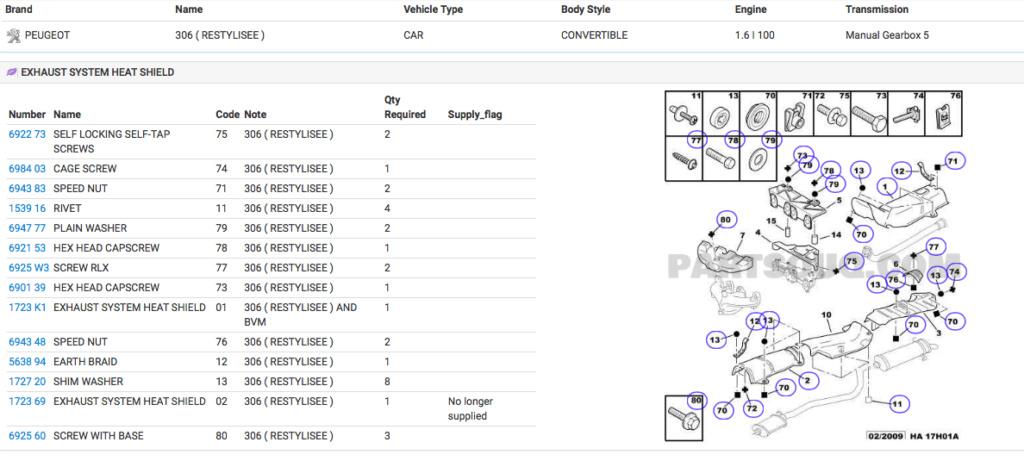 [ ESCAPE ]Lista de piezas de escape 1,6i 100cv NFT Captur76
