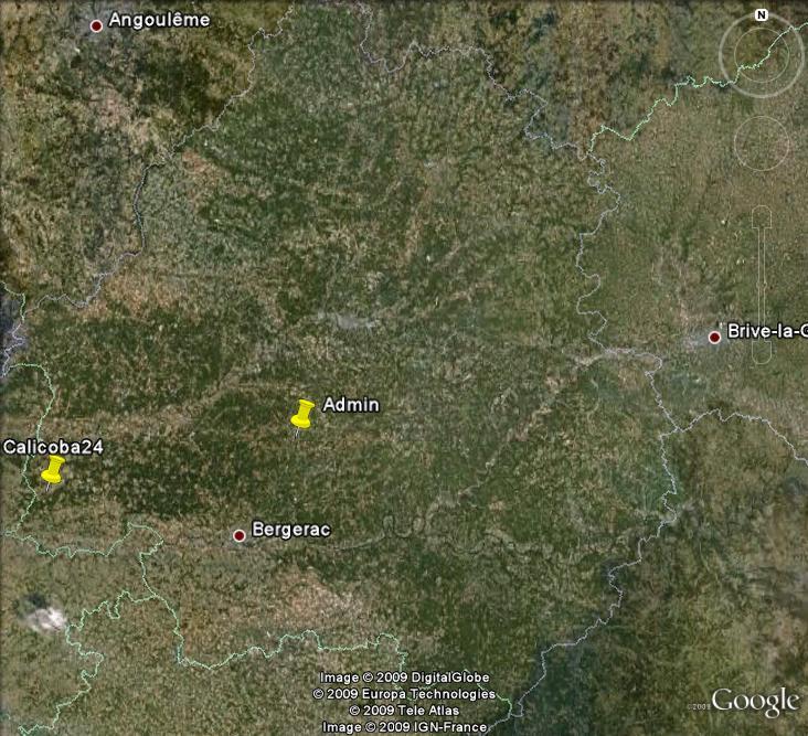Géolocalisation des membres Actnat10