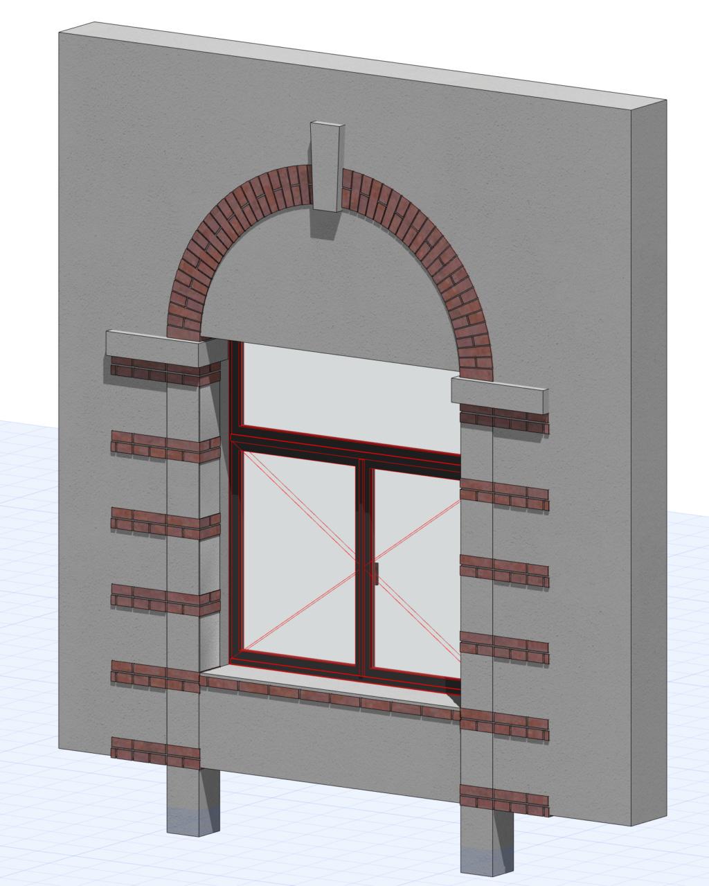 [ ARCHICAD-OBJETS GDL ] encadrement briques d'une fenêtre Captur18