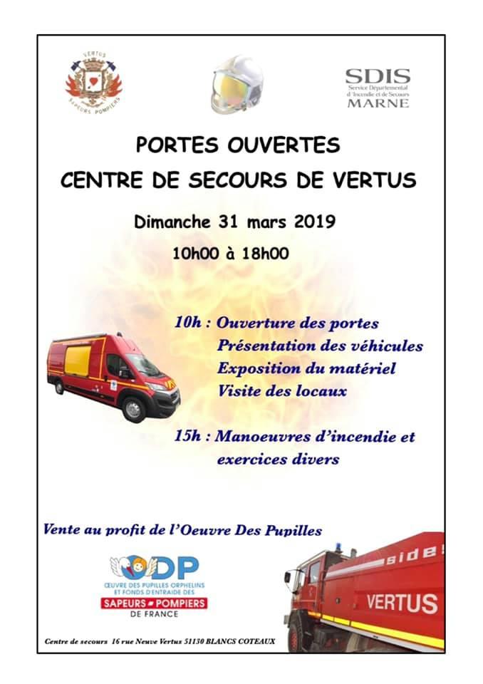 Portes ouvertes sapeurs-pompiers VERTUS 54255510