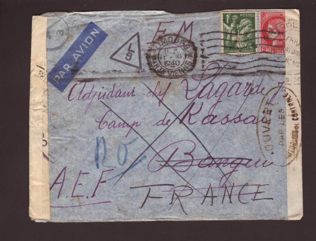 Saint Raphaël à Pointe Noire (Moyen Congo) le 22/04/1941 : problème de tarification  17000510