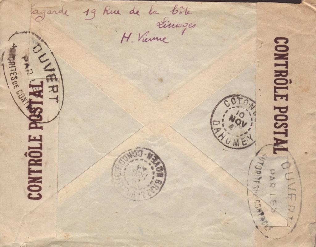 Saint Raphaël à Pointe Noire (Moyen Congo) le 22/04/1941 : problème de tarification  20000810