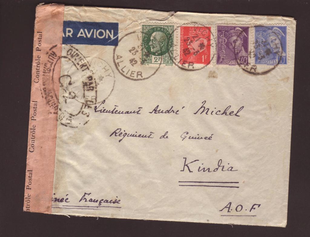 Saint Raphaël à Pointe Noire (Moyen Congo) le 22/04/1941 : problème de tarification  23000610