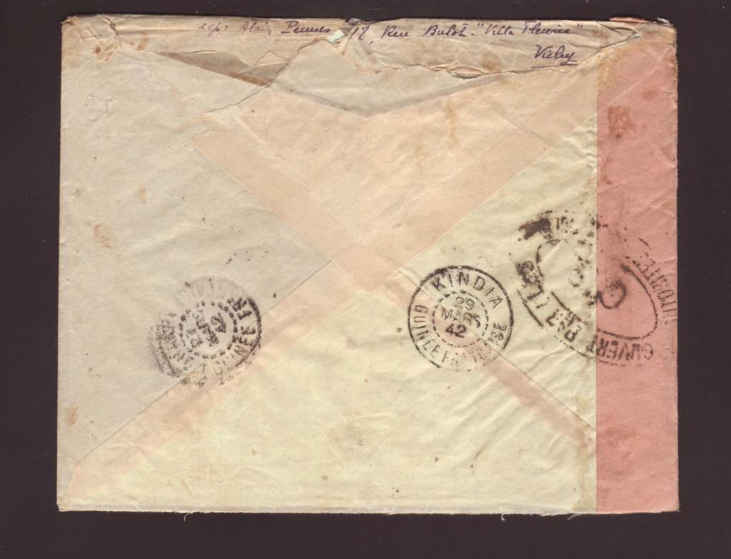 Saint Raphaël à Pointe Noire (Moyen Congo) le 22/04/1941 : problème de tarification  24000710