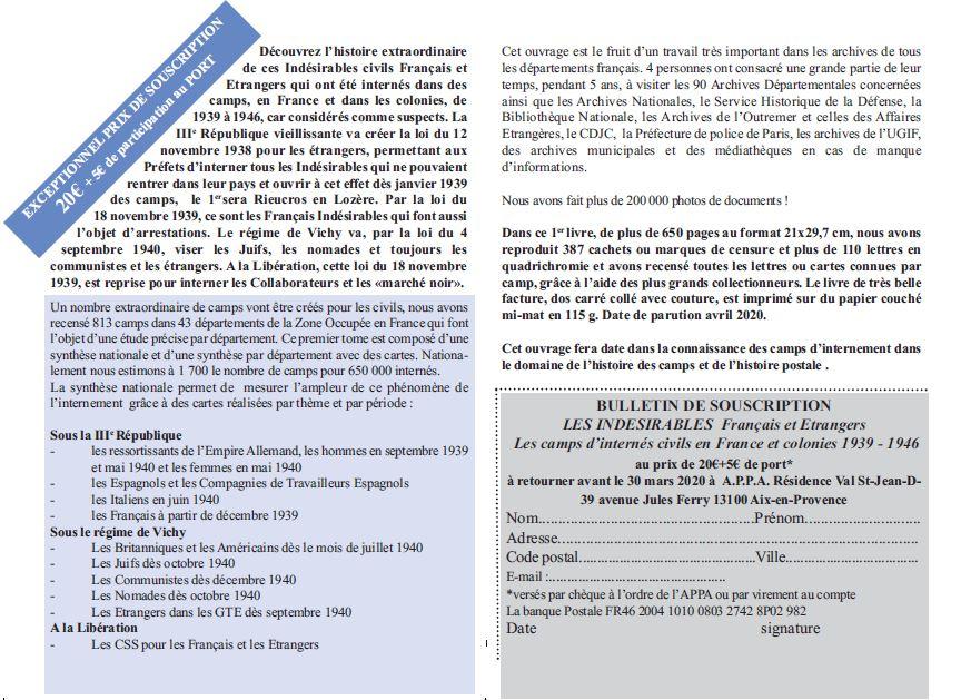 Ouvrage sur les camps d'internement de civils de 1939 à 1946 Bon_de12