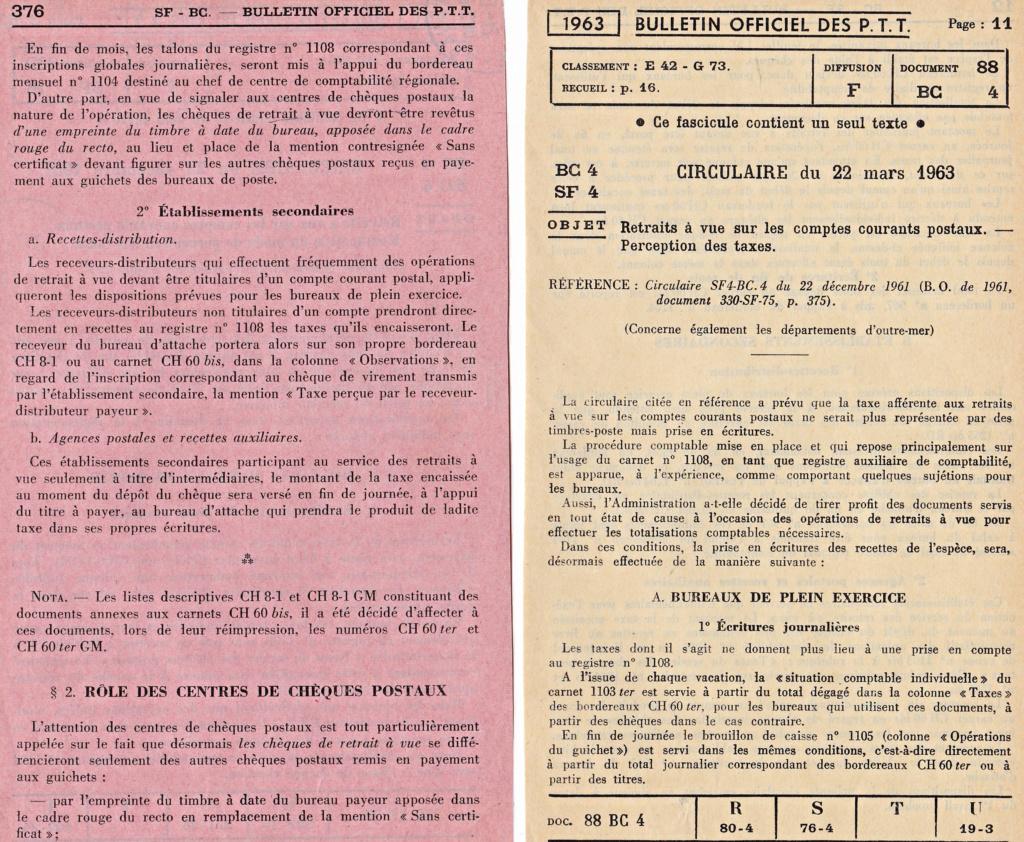 Cherche taxe de 30 c retrait à vue CCP Circ_d20