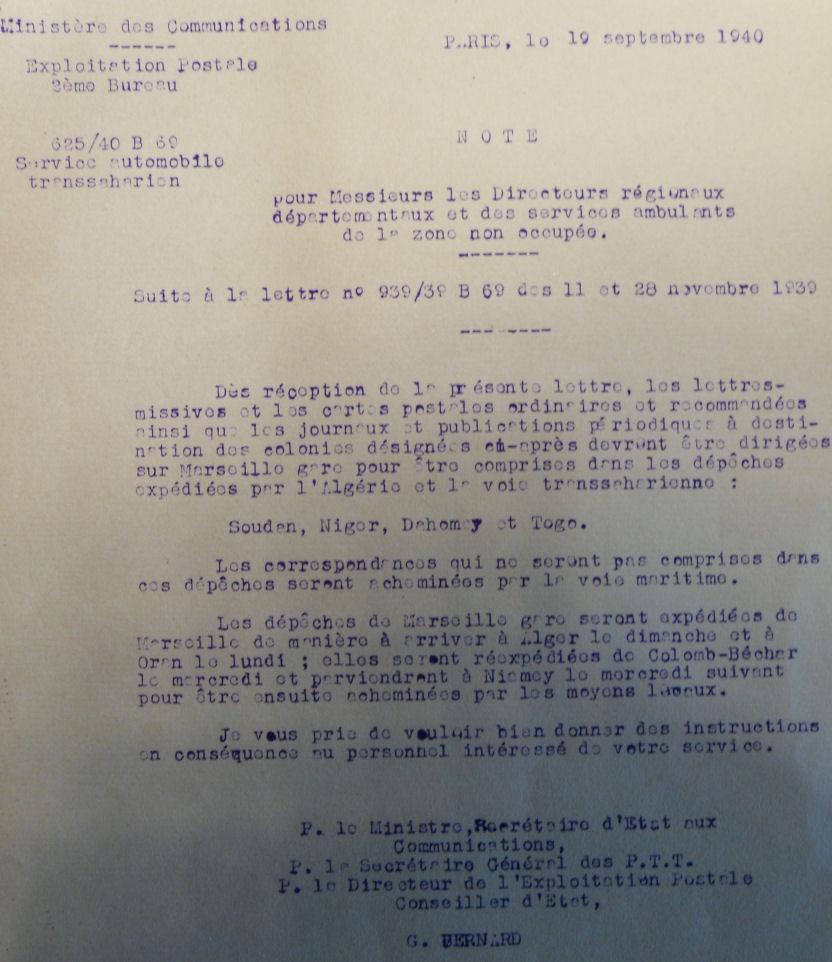 Saint Raphaël à Pointe Noire (Moyen Congo) le 22/04/1941 : problème de tarification  Note_110