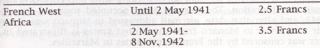 Saint Raphaël à Pointe Noire (Moyen Congo) le 22/04/1941 : problème de tarification  Tarif_10
