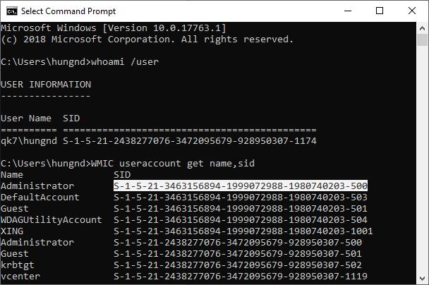 Tìm hiểu về SID (Security Identifier) trên hệ điều hành Windows Sid0110