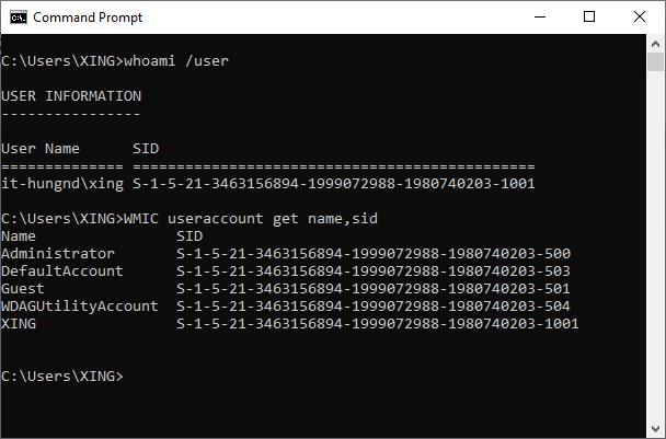 Tìm hiểu về SID (Security Identifier) trên hệ điều hành Windows Sid0310