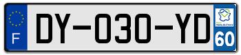 PEUGEOT Plaqu160