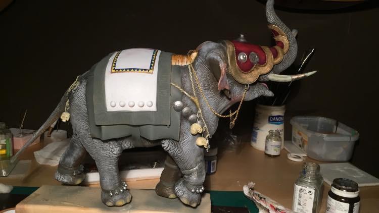 elephant de guerre indien 16th verlinden 120 mm Img_3910