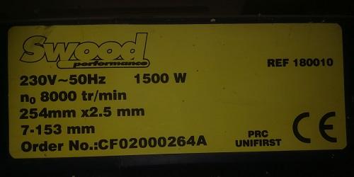 Maintenance raboteuse Swood performance 180010 Img_2011
