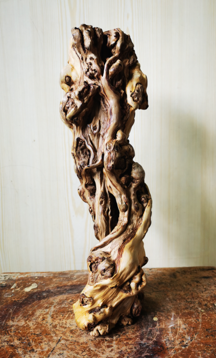 Natural old Pomegranate wood stand Pomegr16