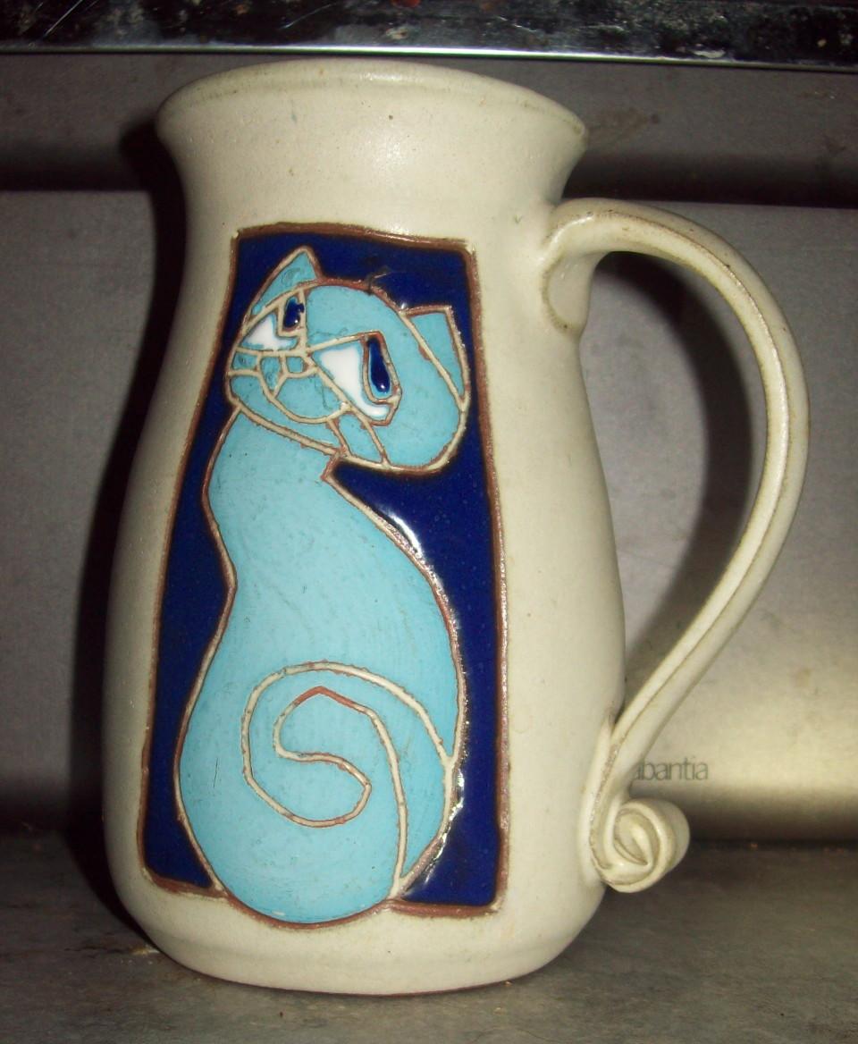 blue cat mug Blue_c10