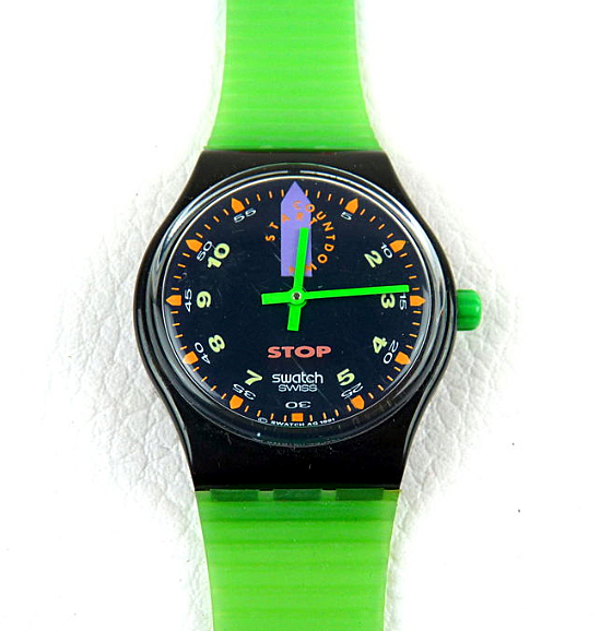un chrono Swatch un peu particulier Start10