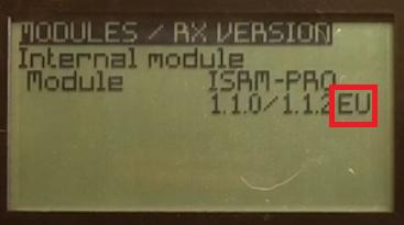 Incompatibilité entre lr récepteur XMR et les radios équipées d'un ISRM Tmp22