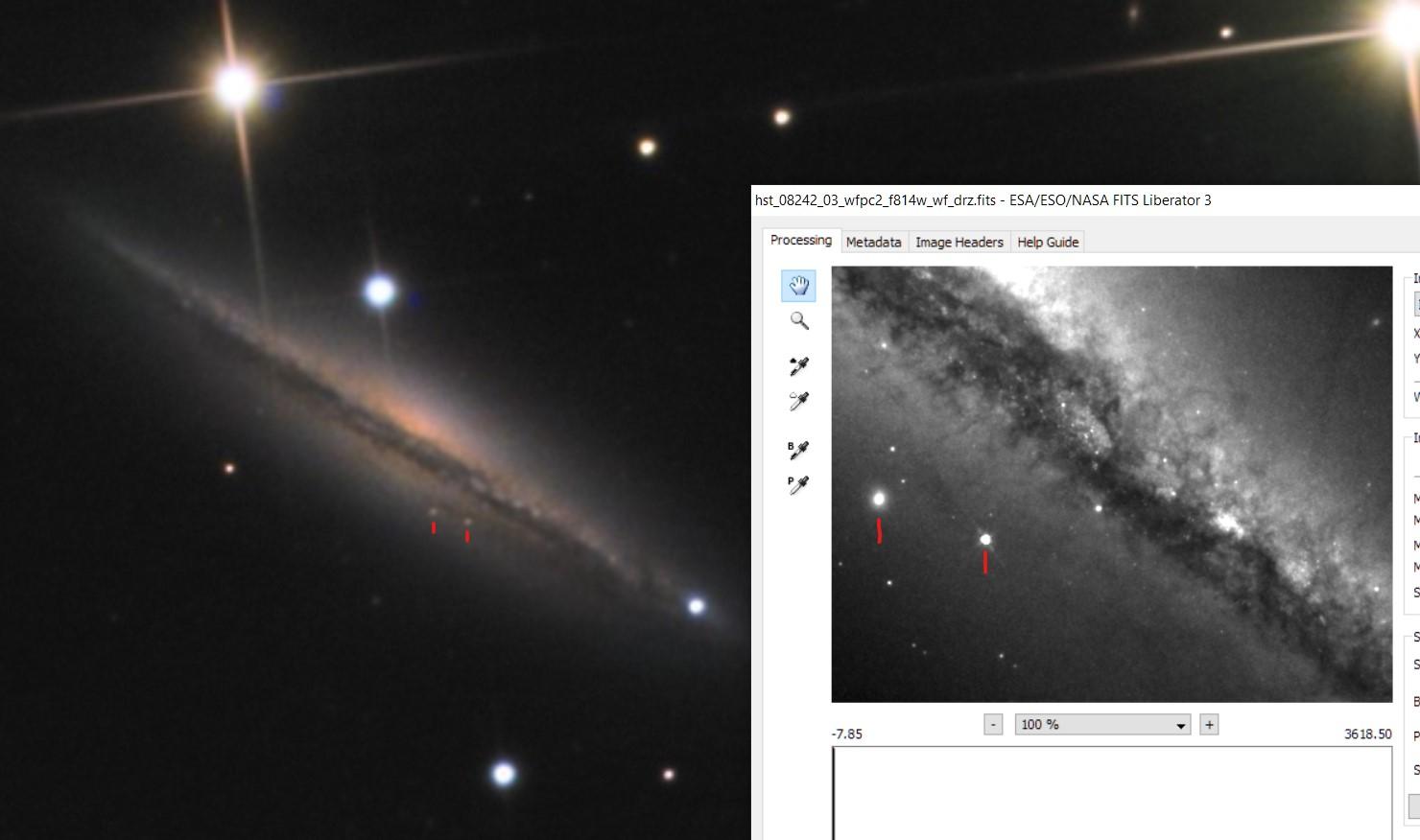 ngc4217 non éclipsée par m106 Hubble10