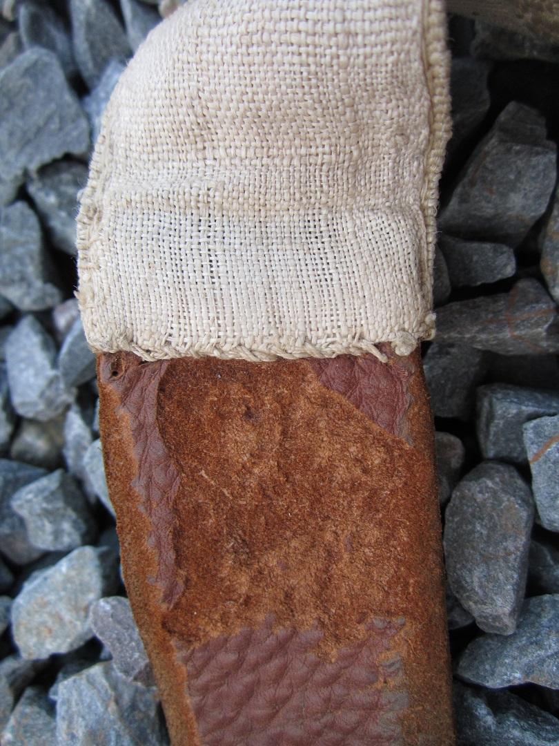 porte fourreau XIX eme siècle toile et cuir Img_0913