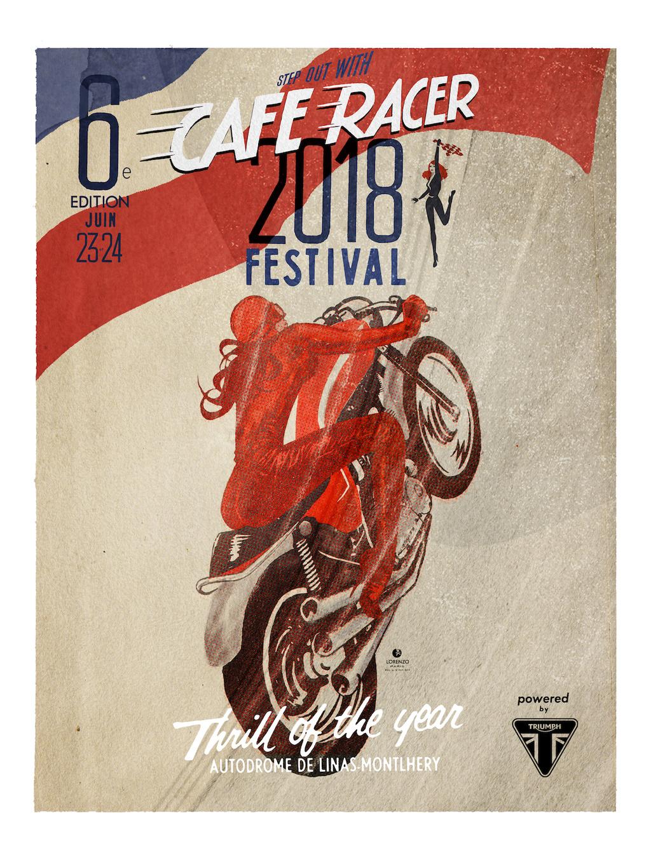 Café racer festival Montlhéry (91) 23 et 24 juin 2018 Affich12