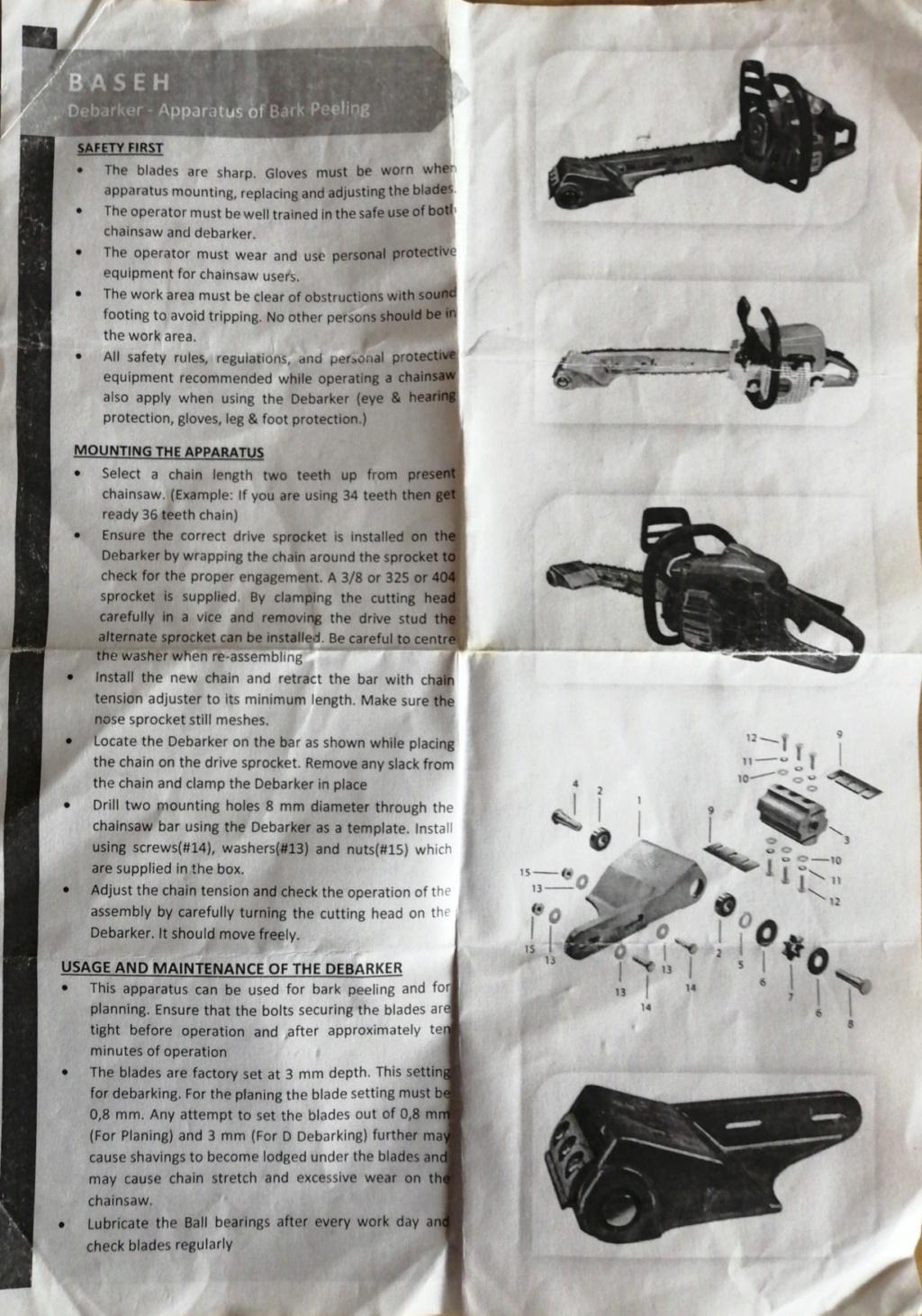 motoseghe con dotazioni da carpenteria legno - Pagina 2 Debark10