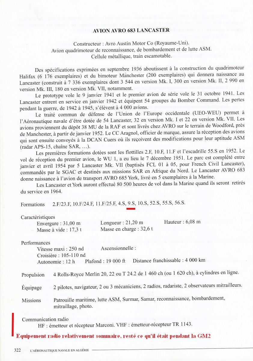 [Les anciens avions de l'aéro] Les bons vieux Lanc de l'Aéronavale ! - Page 8 Mb60210