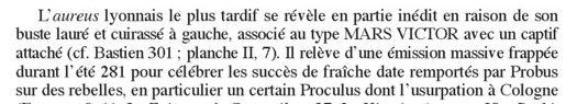 Un revers enigmatique sur un aurélianus de Probus Probus14