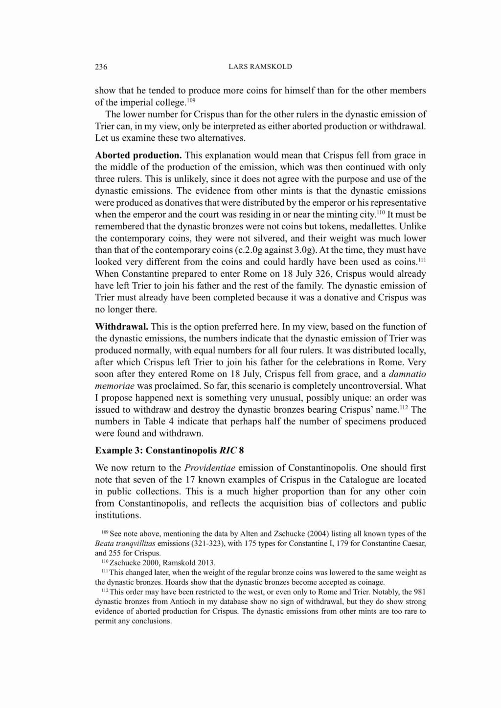 les monnaies anépigraphes pour les vicennales de Constantin Ier à Trèves Ramsko13