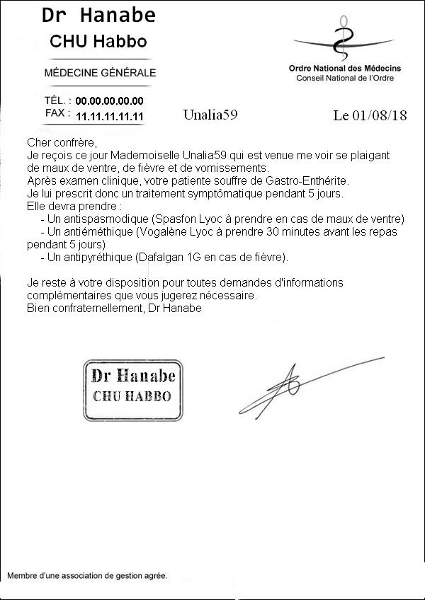 [CHU] Rapport Rôle Play de [Hanabe] Compte10