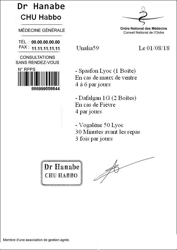 [CHU] Rapport Rôle Play de [Hanabe] Ordonn10