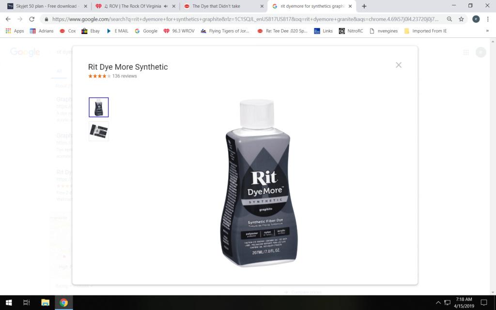 The Dye that Didn't take  2019-011