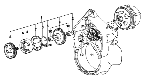 Bell housing alternator bearing Scree102